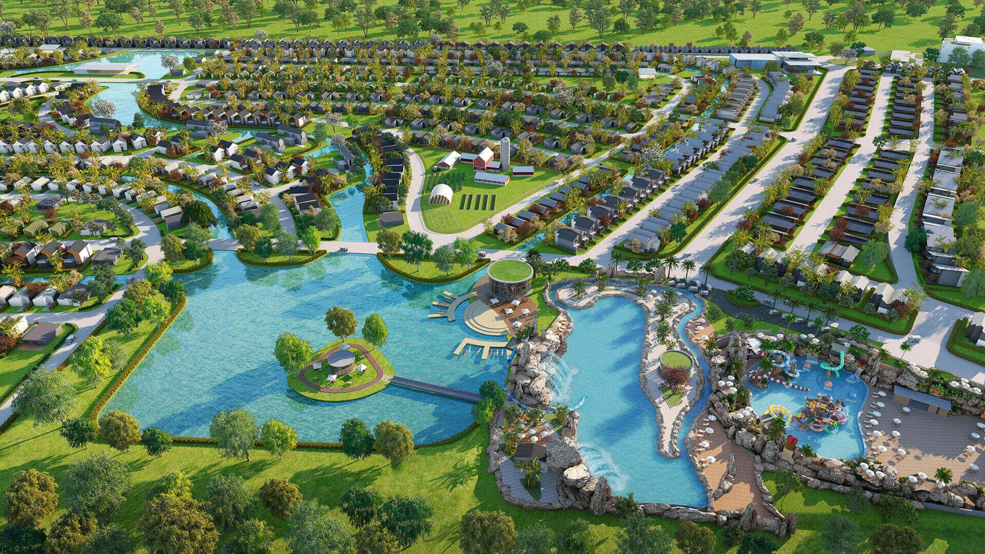 Các dự án nghỉ dưỡng tại khu du lịch sinh thái phức hợp biển Hồ Tràm 3