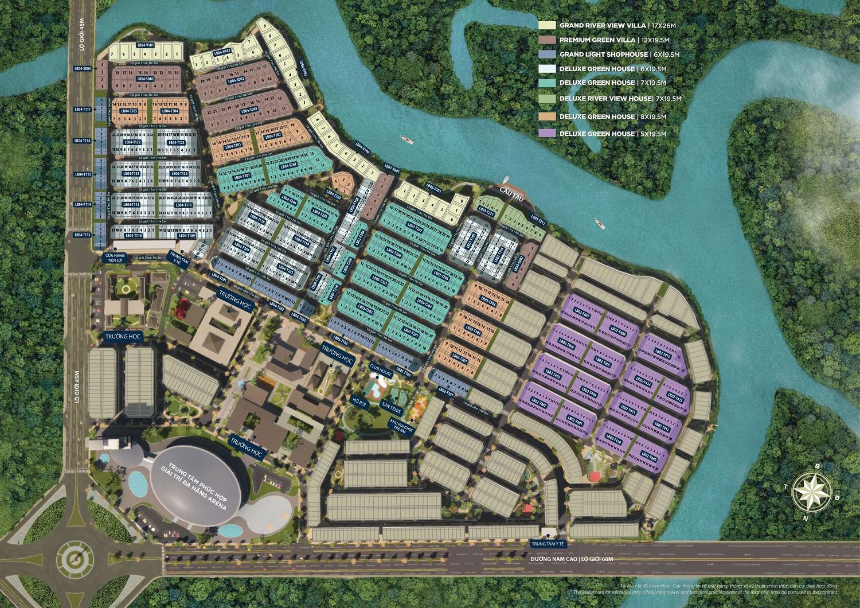 Mặt bằng phân khu The Stella dự án aqua city