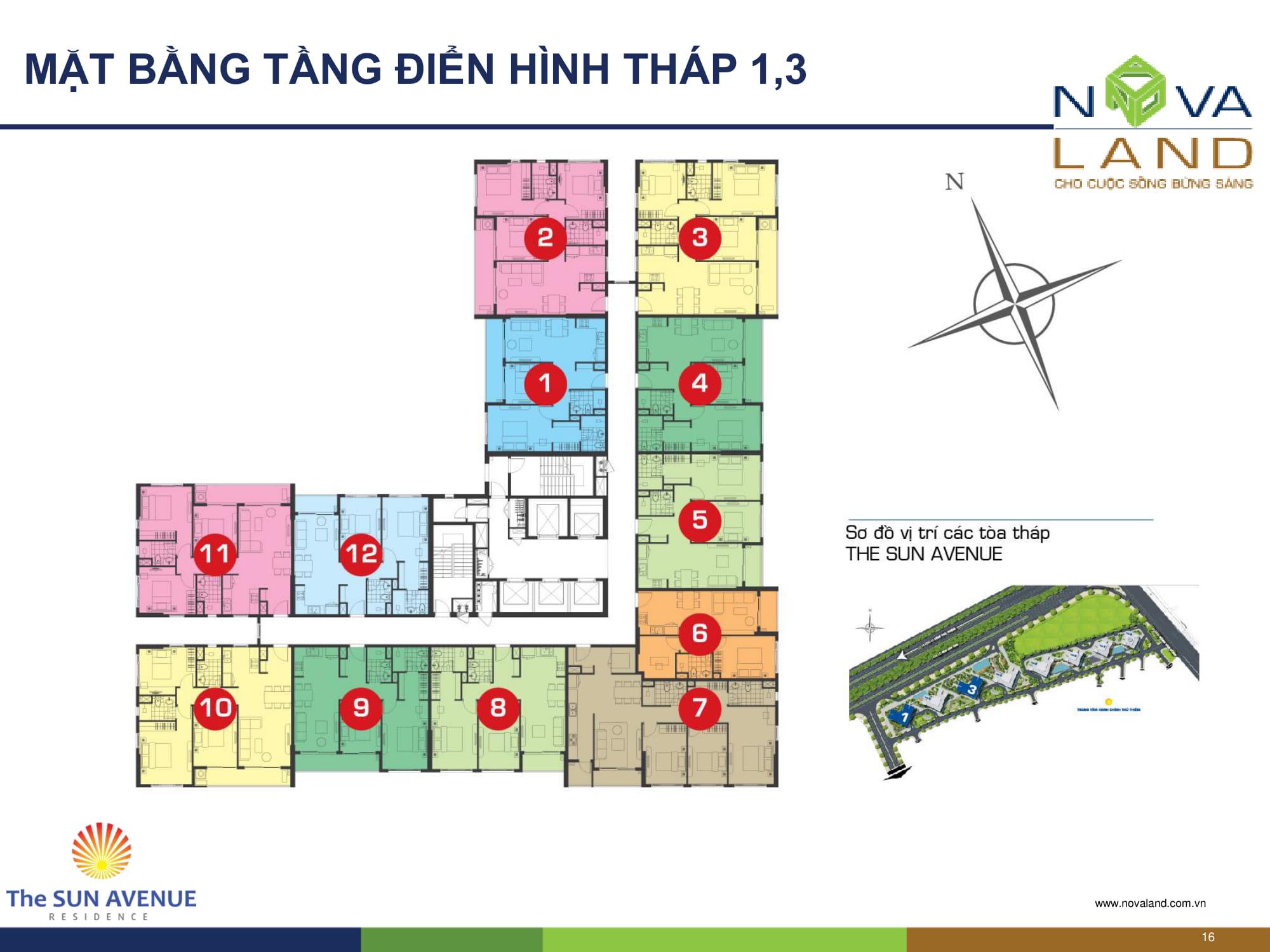 mat-bang-thap-1-3-the-sun-avenue